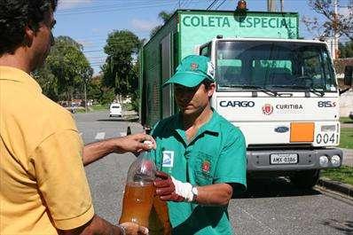 coleta de óleo de fritura