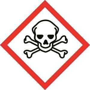 Cuidado com produtos quimicos