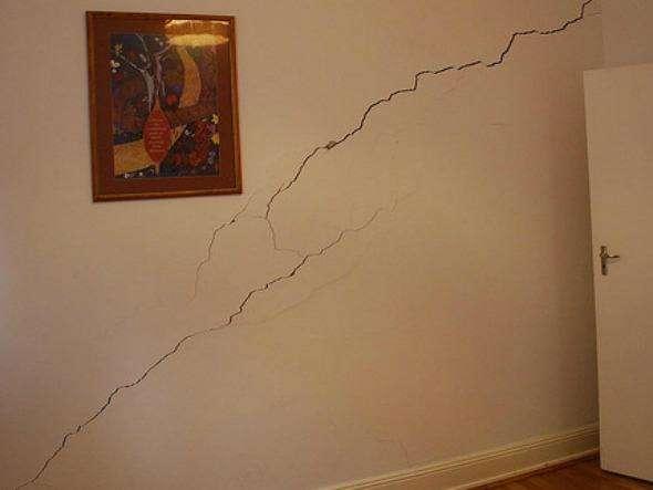 trincas nas paredes