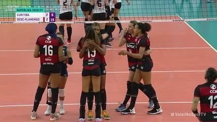 Melhores momentos: Curitiba 2 x 3 Sesc-Flamengo, pela Superliga Feminina de Vôlei